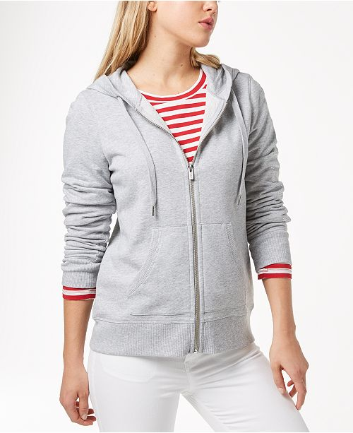 b4874af4a76f Tommy Hilfiger French Terry Hoodie, Created for Macy's & Reviews ...