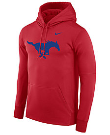 Nike Men's Southern Methodist Mustangs Therma Logo Hoodie