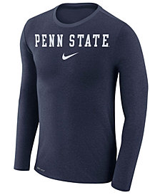 Nike Men's Penn State Nittany Lions Marled Long Sleeve T-Shirt