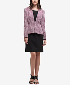 DKNY Collarless Peplum Jacket, Created for Macy's