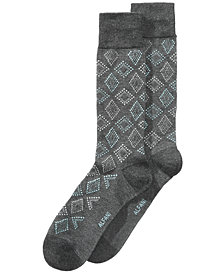 Alfani Men's Dot Diamond Socks, Created for Macy's