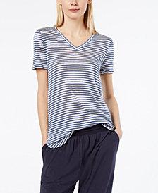 Weekend Max Mara Globo Linen Striped T-shirt