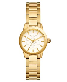 Tory Burch Women's Gigi Gold-Tone Stainless Steel Bracelet Watch 28mm