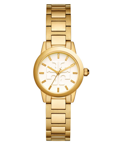 Tory Burch Women's Gigi Gold-Tone Stainless Steel Bracelet Watch 28mm