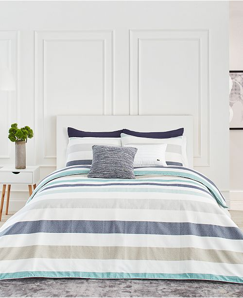 Lacoste Home Lacoste Bailleul Bedding Collection, 100% Cotton