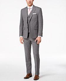 Lauren Ralph Lauren Men's Classic-Fit Ultra-Flex Stretch Light Gray Glen Plaid Vested Suit