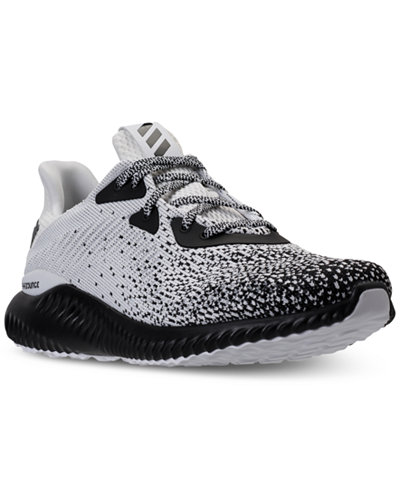 adidas Men's AlphaBounce Circular Knit Running Sneakers from Finish Line