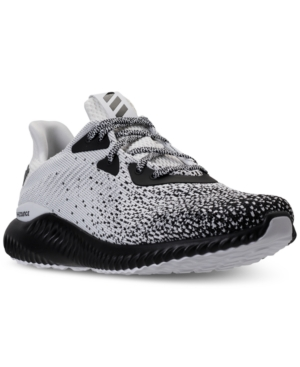 Adidas Originals Sports ADIDAS MEN'S ALPHABOUNCE CIRCULAR KNIT RUNNING SNEAKERS FROM FINISH LINE