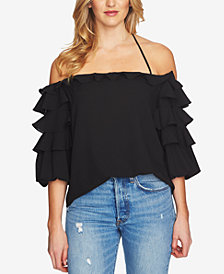 1.STATE Ruffled Halter Top