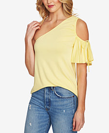 1.STATE One-Shoulder Cold-Shoulder Top