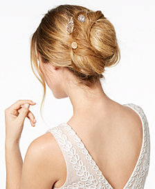 I.N.C. Gold-Tone 3-Pc. Set Pavé Crystal Hair Pins, Created for Macy's