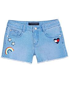 Tommy Hilfiger Frayed-Hem Denim Shorts, Big Girls