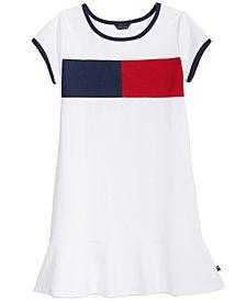 Tommy Hilfiger Colorblocked Piqué Dress, Little Girls