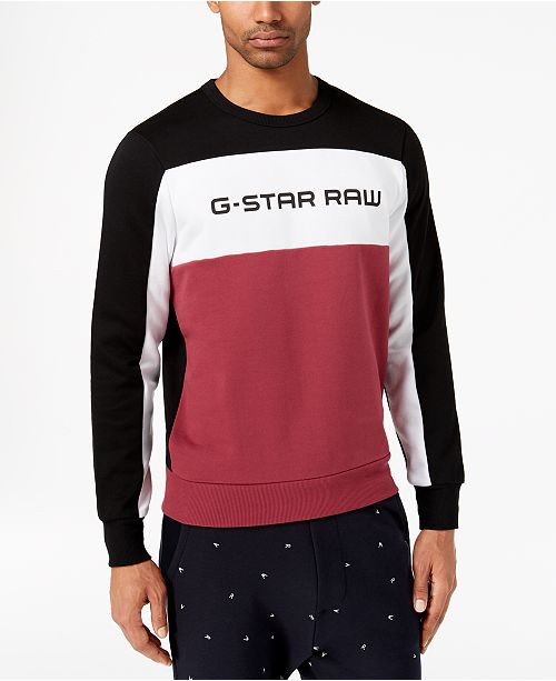 e5161060aa9 ... G-Star Raw G-Star Men's Swando Logo Sweatshirt, Created for Macy's ...