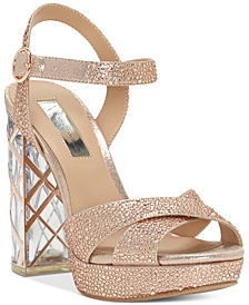 I.N.C. Women's Rosarria Light-Up Block-Heel Sandals, Created for Macy's
