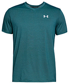 Under Armour Men's Streaker Threadborne V-Neck T-Shirt
