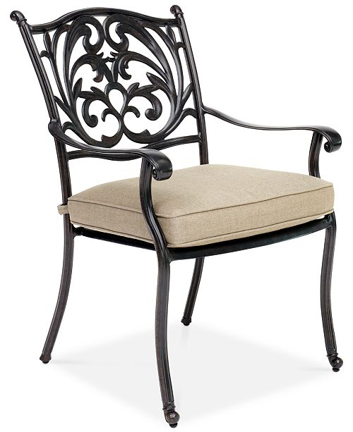 Terrific Chateau Aluminum Outdoor Dining Chair With Sunbrella Cushion Created For Macys Beutiful Home Inspiration Aditmahrainfo