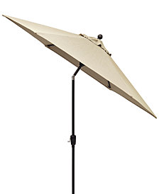 Chateau Outdoor 11' Push Button Tilt Umbrella with Sunbrella® Fabric, Created for Macy's