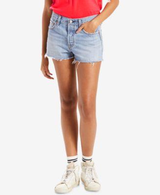 501® Cotton High-Rise Denim Shorts