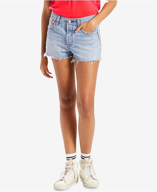 473e7d3b Levi's 501® Cotton High-Rise Denim Shorts & Reviews - Shorts ...