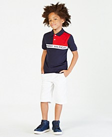 Colorblocked Polo, Big Boys