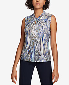 Tommy Hilfiger Knot Neck Paisley Top