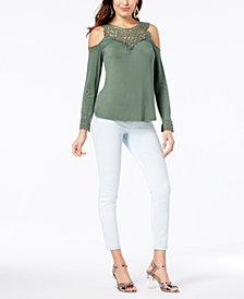 Thalia Sodi Cold-Shoulder Top & Pull-On Jeggings, Created for Macy's