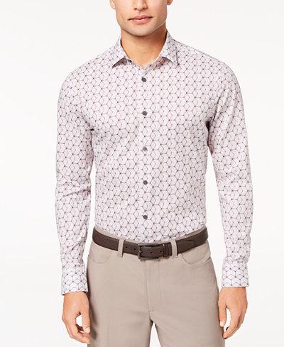 Alfani Men's Hexagon-Print Shirt, Created for Macy's