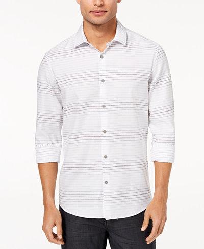 Alfani Men's Ombré Broken-Stripe Shirt, Created for Macy's