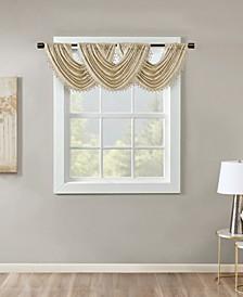 "Cassius 46"" x 38"" Marble Jacquard Window Valance"