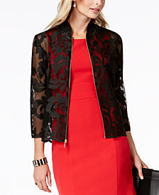 Kasper Sheer Lace Blazer