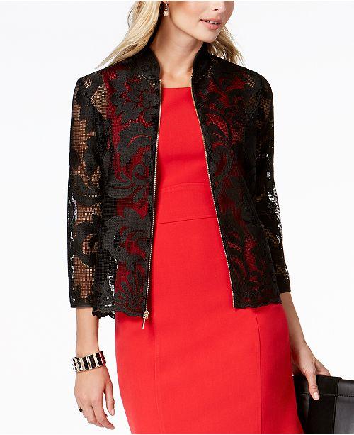 Kasper Sheer Lace Blazer Jackets Amp Blazers Women Macy S