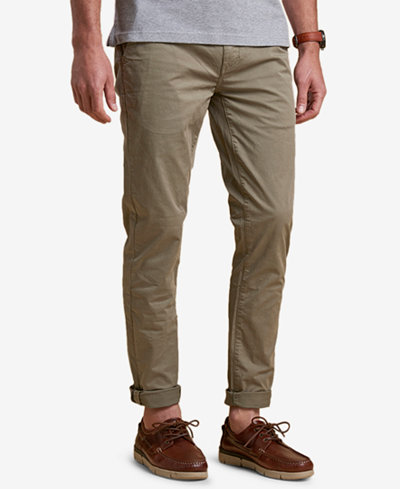 Barbour Men's Neuston Slim-Fit Stretch Light Green Chinos