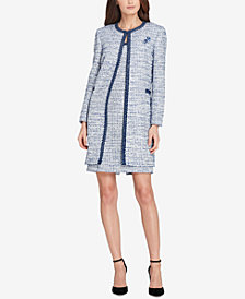 Tahari ASL Bouclé Topper Jacket & Sheath Dress