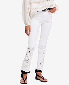 Free People Cutwork Cigarette Jeans