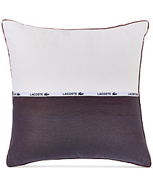 "Lacoste Home L.12.12  Colorblocked 18"" Square Decorative Pillow"