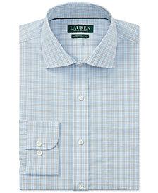 Lauren Ralph Lauren Men's Classic-Fit Non-Iron Stretch Poplin Check Dress Shirt