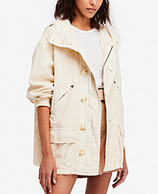 Free People Joshua Tree Cotton Hooded Jacket