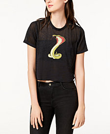 Hudson Jeans Cropped Graphic T-Shirt