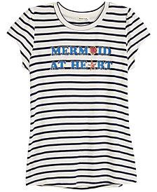 Monteau Striped Printed T-Shirt, Big Girls