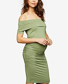 Maternity Off-The-Shoulder Sheath Dress