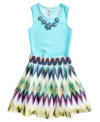 Beautees 2-Pc. Bodysuit & Skater Skirt Set, Big Girls