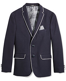 DKNY Navy Sport Coat with Piping, Big Boys