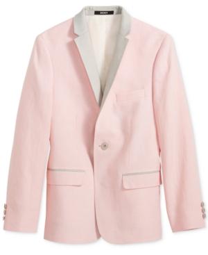 Dkny Pink & Gray Linen...