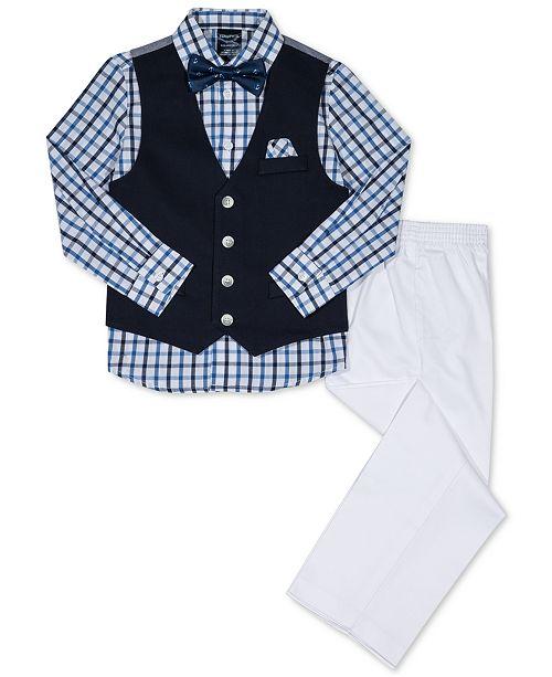 36d1ea57acfe Nautica 4-Pc. Vest, Shirt, Pants & Bow Tie Set, Toddler Boys ...