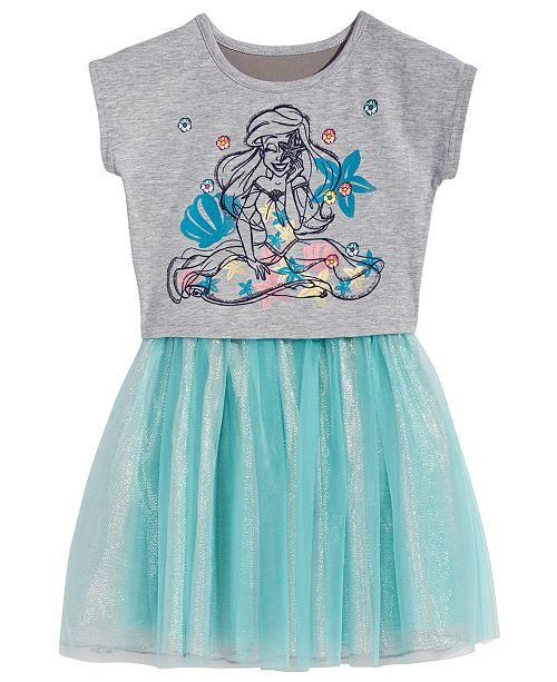 The Little Mermaid Ariel Popover Dress, Little Girls