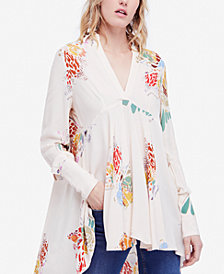 Free People Field Of Butterflies Semi-Sheer Tunic