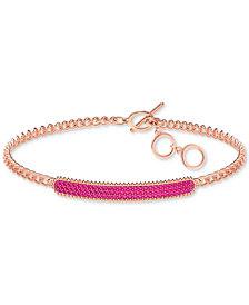 Swarovski Crystal Pavé Link Toggle Bracelet