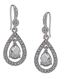 Carolee Earrings, Crystal Teardrop