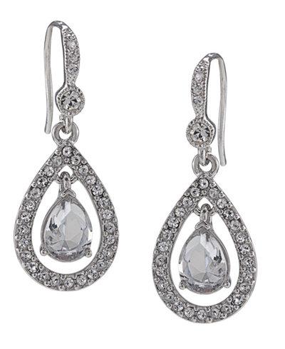 Carolee Earrings, Crystal Teardrop